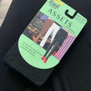 ASSETS Sara Blakey BLACK opaque tights! NEW!